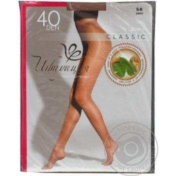 Колготы женские Intuicia Classic 40Den бежевые размер 5-6 - купить, цены на МегаМаркет - фото 2