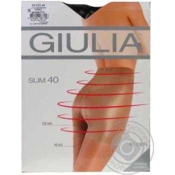 Колготки Giulia Slim жіночі nero 40ден 5р - купити, ціни на МегаМаркет - фото 1