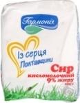 Cottage cheese Garmoniya Mgarsk sour milk 9% 200g