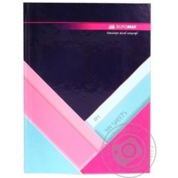 Книга обліку MODEST 144 арк.кліт.оф.(тв. лам. обл) А4 темно-сині