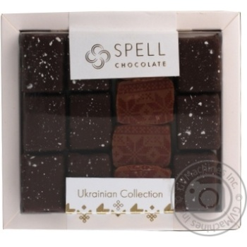 Конфеты шоколадные Spell Ассорти с маком, клюквой и орехом 170г