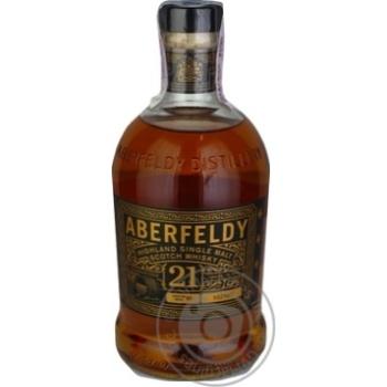 Whiskey Aberfeldy 40% 21yrs 700ml in a box Scotland