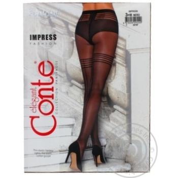 Колготки жіночі Conte Elegant Fantasy Impress 20 den розмір 3, nero - купить, цены на Novus - фото 2