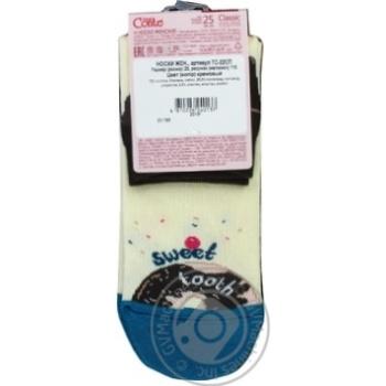 Шкарпетки жін. бавовняні CLASSIC 7С-22СП.р.25.115 х6 - купить, цены на МегаМаркет - фото 2