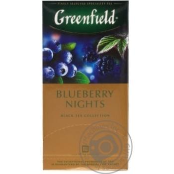 Чай черный Greenfield Blueberry Nights 25шт*1,5г 37,5г - купить, цены на Метро - фото 3