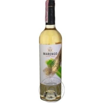 Вино Marengo Chardonnay белое сухое 9,5-14% 0,75л - купить, цены на МегаМаркет - фото 1