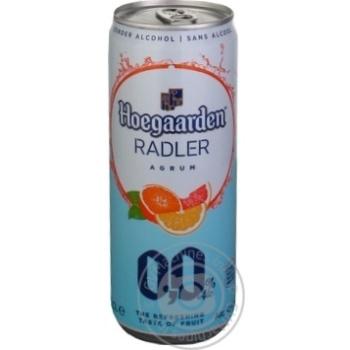Beer Hoegaarden Radler non-alcoholic 0% 330ml - buy, prices for MegaMarket - image 1