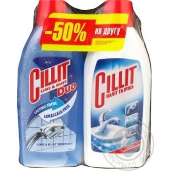 Засіб Cillit від нальоту та іржі 450мл+Сілліт Duo 500мл - купити, ціни на МегаМаркет - фото 2