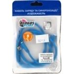 Кабель зарядки та синхронізації Dengos Micro-USB кутові конектори (NTK-M-UG-SET-BLUE)