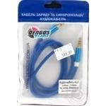 Dengos Audio Cable AUX 3.5mm-3.5mm 1m Blue