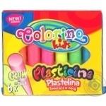 Пластилін Colorino Glow 6 кольорів