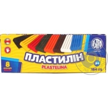 Пластилин Astra 8 цветов 184г
