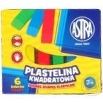 Пластилин Astra квадратный 6 цветов