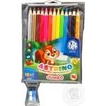 Олівці кольорові Astrino трикутні 12кольорів+чинка