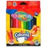 Карандаши Colorino Mini Jumbo цветные треугольные 10 цветов 8.9см