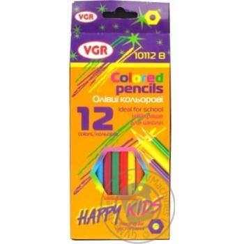 Карандаши цветные Vgr шестигранные 12 цветов