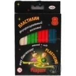 Пластилін Гамма Флюрики флуоресцентний 8 кольорів