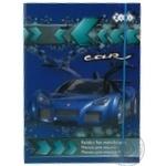 Папка д\зошитів ZiBi CAR картонна на гумках В5+ 175х240х25мм ZB1