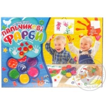 Пальчикові краски для творчості Danko toys