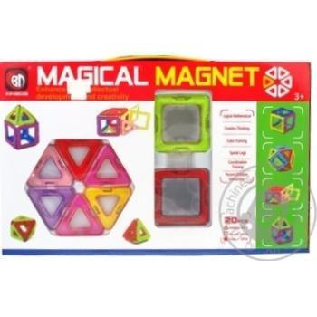 Игровой набор магнитный конструктор 20 деталей