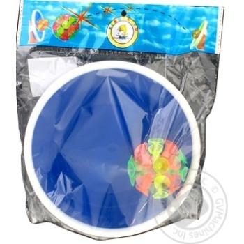 Набор игровой Астра Дистрибьюшн мяч + 2 тарелки AR0023 - купить, цены на МегаМаркет - фото 1
