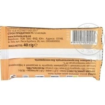 Батончик Кохана натуральний Обліпиха 40г - купити, ціни на МегаМаркет - фото 2