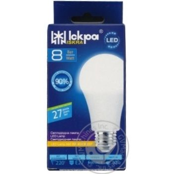 Лампа LED Lamp Іскра A60 220В 8Вт 4000K E27