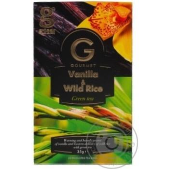 Чай зеленый G'tea! Gourmet ваниль-дикий рис 20*1,75г