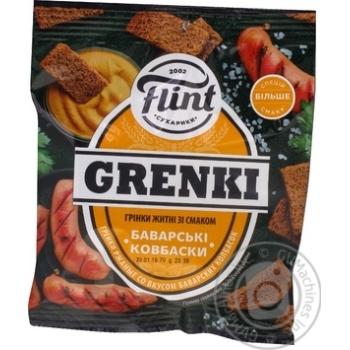 Гренки Flint Grenki ржаные со вкусом баварских колбасок 70г