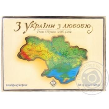 Набор конфет Житомирские ласощи Из Украины с любовью 365г