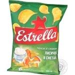 Чипсы Estrella со вкусом лисичек в сметане 125г