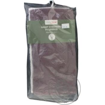Набор полотенец Home Line кремово-фиолетовый 2шт 40Х60см