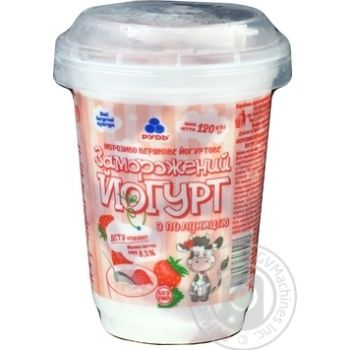 Ice-cream Rud strawberries with cream frozen 120g Ukraine