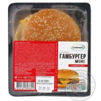 Бутерброд Gulfstream Гамбургер міні яловичий 140г