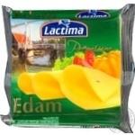 Сир Лактіма Едам плавлений нарізаний 36.2% 8х16.25г
