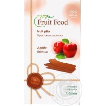 Фруктовая пастила Fruit food из яблок 90г - купить, цены на Ашан - фото 1