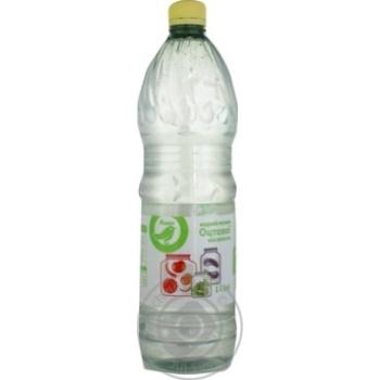 Водный раствор уксусной кислоты Ашан 1л - купить, цены на Ашан - фото 1