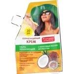 Солнцезащитный крем Fito cosmetic Народные рецепты с кокосовым маслом  SPF30 50мл