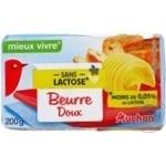 Масло Ашан без лактозы 82% 200г