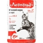 Leopold Cat Food Veal and Fish with Vegetables 100g - buy, prices for Furshet - image 1