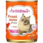 Food Leopold with lambs for cats 360g