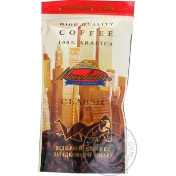 Кофе Манхэттен Классик 100% Арабика натуральный растворимый сублимированный 50г - купить, цены на Ашан - фото 1