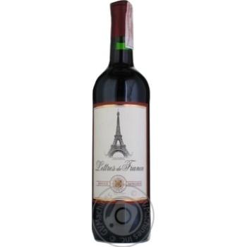 Вино Maison Bouey Lettres De France Rouge Moelleux красное полусладкое 11.5% 0.75л