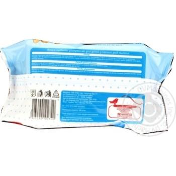 Влажные салфетки Ашан ультрамягкие для детей с первых дней жизни 100шт - купить, цены на Ашан - фото 3