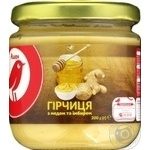 Auchan Mustard with honey and ginger 200g