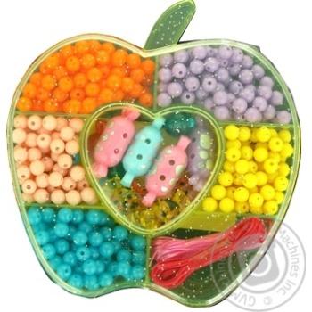 Бусинки One two fun пластиковые в ассортименте - купить, цены на Ашан - фото 1