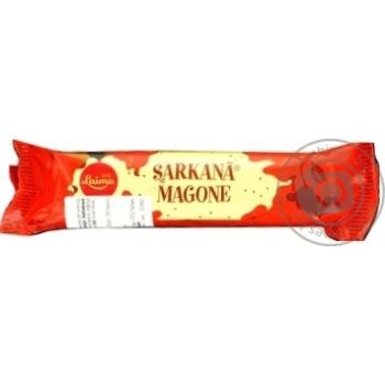 Конфета Laima Sarkana Magone шоколадная с пралине 40г - купить, цены на Ашан - фото 1