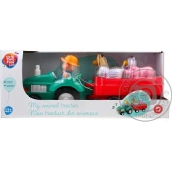 Трактор музыкальный Baby с животными - купить, цены на Ашан - фото 1