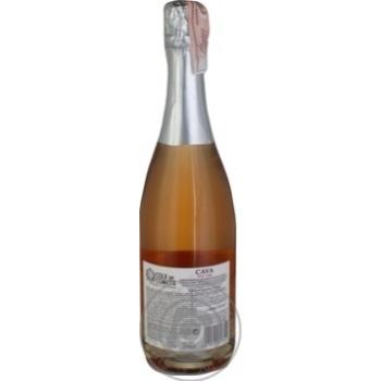 Вино игристое Cola de Cometa Cava розовое брют 11,5% 0,75л - купить, цены на Ашан - фото 2