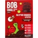 Конфеты Bob Snail яблочно-вишневые в черном шоколаде без сахара 60г